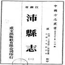 民国沛县志 16卷 民国9年铅印本 PDF下载